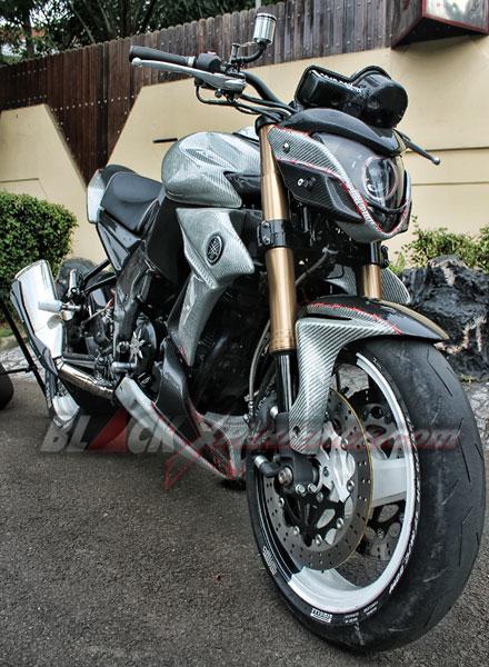 Tampilan Yamaha Byson Sport dari Depan