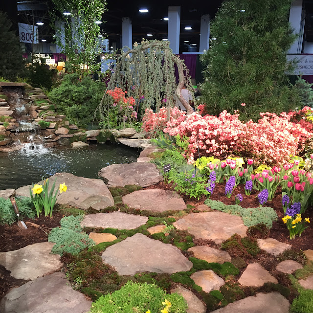 So many impressive water gardens at the Boston Flower & Garden Show
