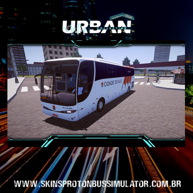 Skin Proton Bus Simulator - G6 1050 MB O-500R 4X2 Viação Cidade do Aço
