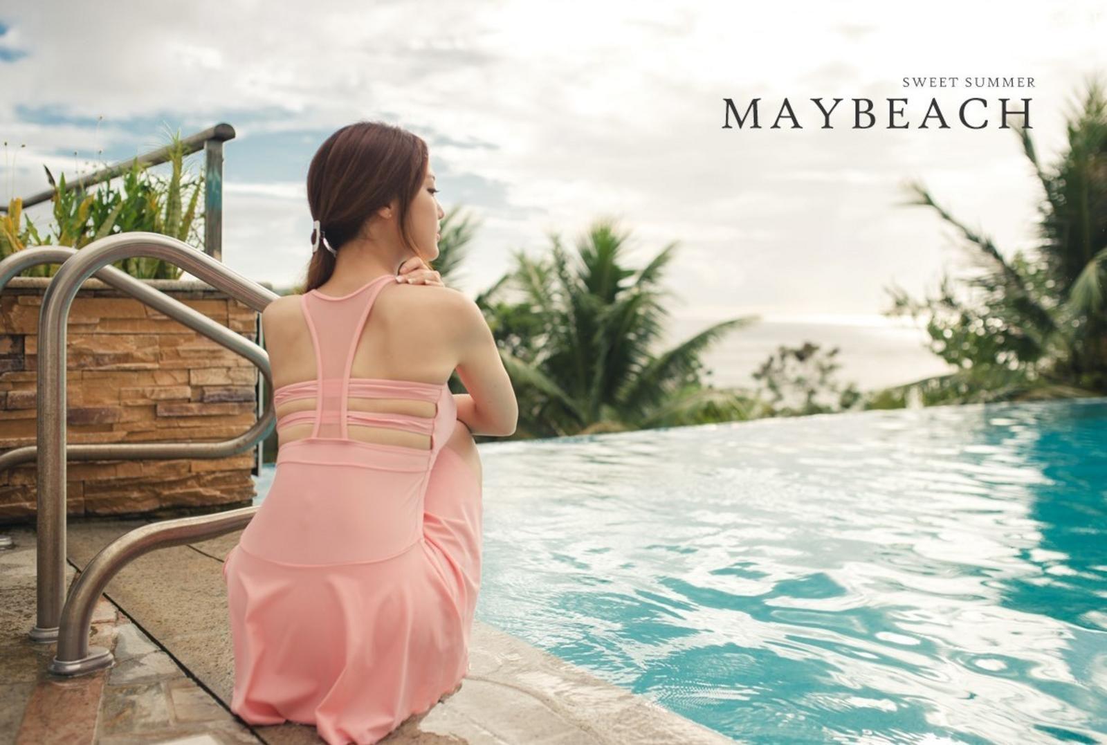 Korean model fashion - Park Jeong Yoon - Amanda One Piece Swimsuit - Picture 4