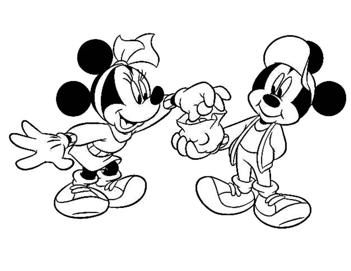 Gambar Gambar Mewarnai Mickey Mouse Untuk Anak Gambar Mewarnai Jpeg