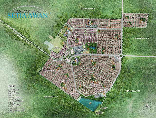 Peta Pembangunan Bandar Baru Setia Awan, Perak