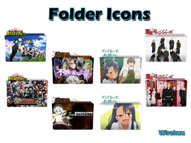 Folder Icon Anime Spring 2021 Pack 1