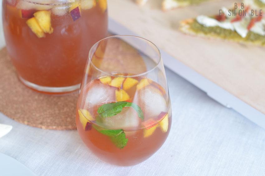 Minty Vanilla Peach Ice Tea nah
