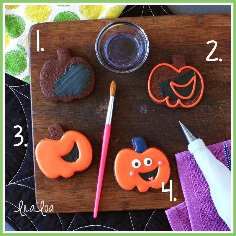 Happy pumpkin sugar cookie decorating tutorial