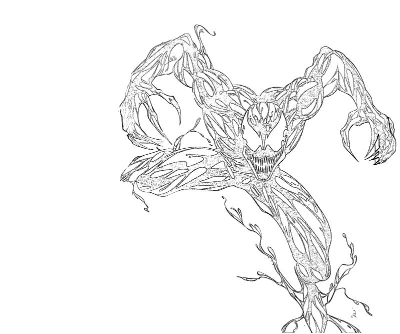 carnage spider man coloring pages - photo#43