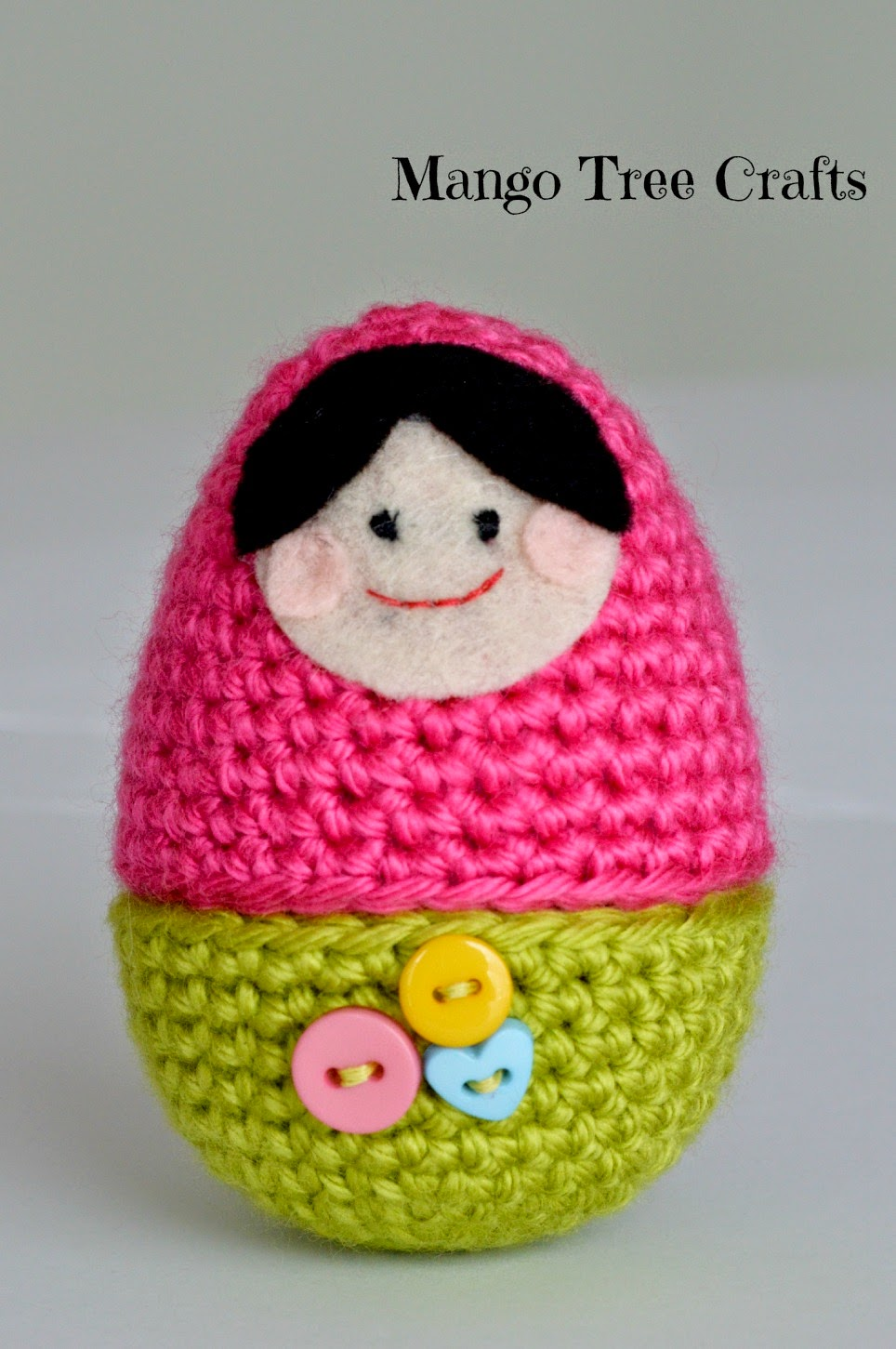 Crochet babushka doll Easter egg pattern