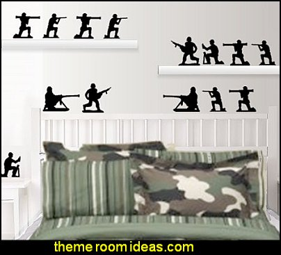 Military Army Men Wall Decals