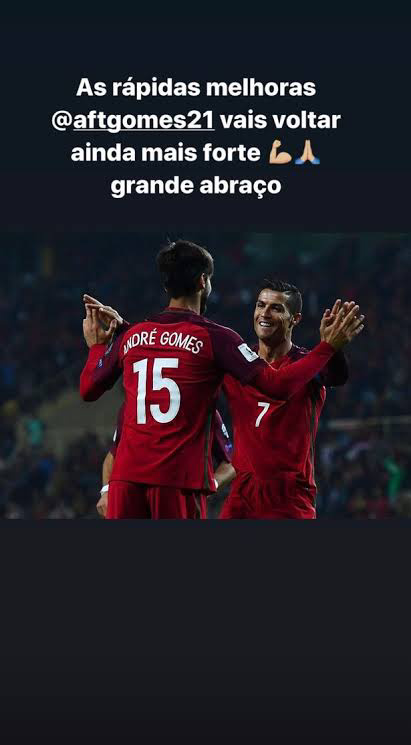 Cristiano Ronaldo sends touching message to Andre Gomes after horror injury