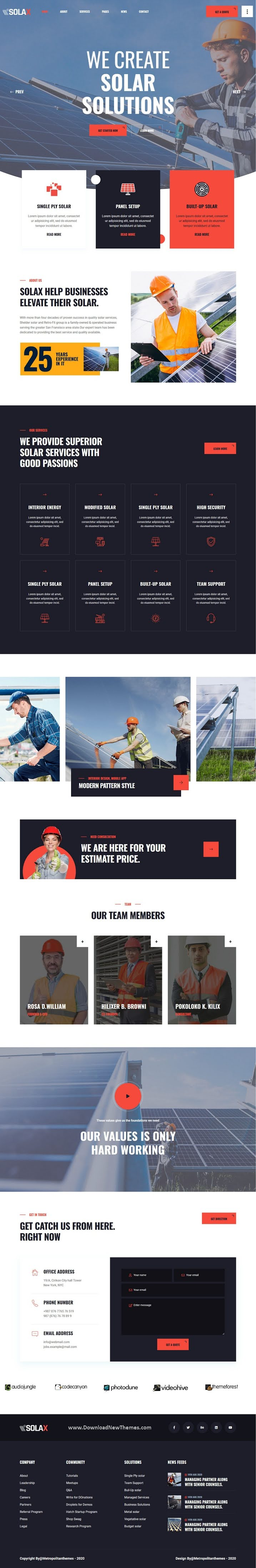 Best Solar Company Website Template
