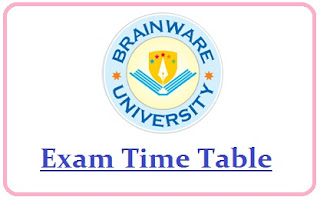 Brainware University Exam Date Sheet 2020