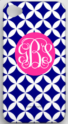 monogrammed cell phone cover