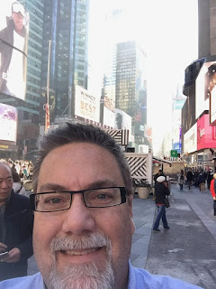 David brodosi traveling to New York to visit time square