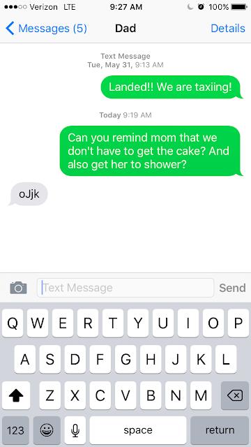 peak dad texting