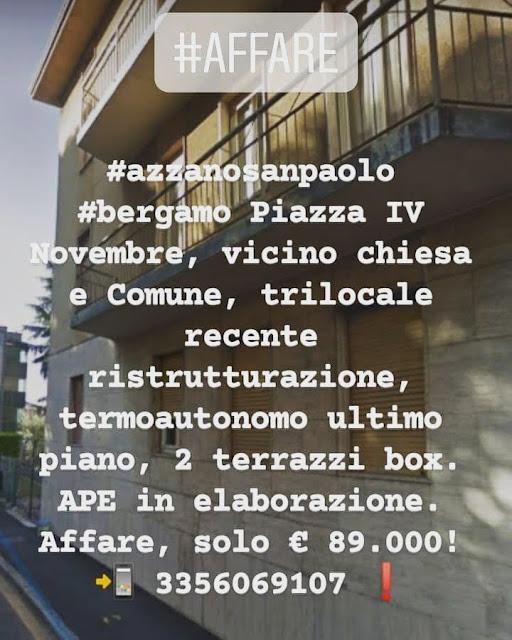 Trilocale Azzano San Paolo Piazza IV Novembre