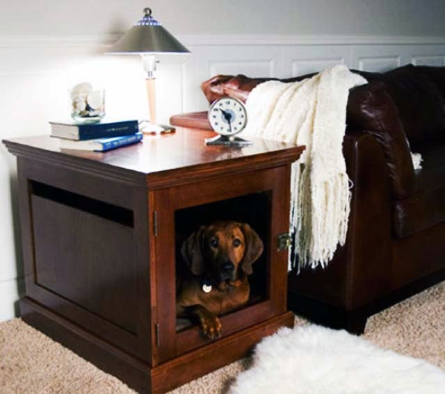 indoor wood dog house designs