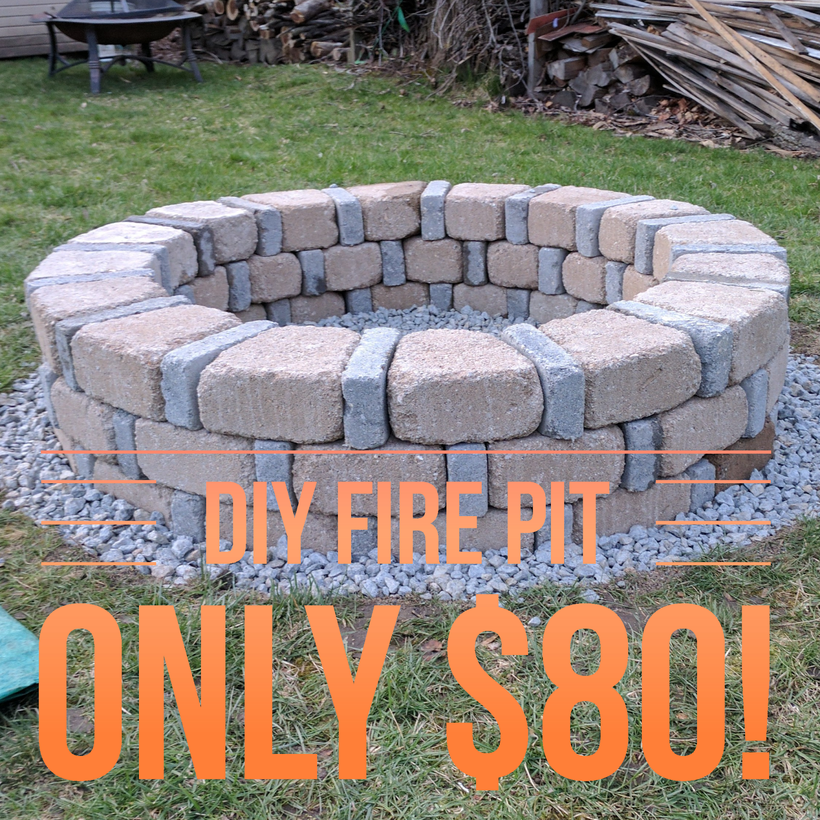 DIY Brick Fire Pit For Only $80 on Backyard Fire Pit Ideas Diy id=57521