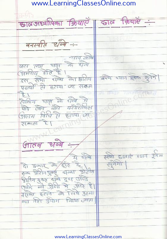 class 8 micro teaching home science lesson plan on skill of explanation in hindi