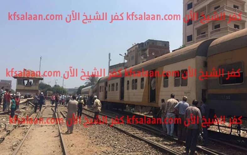 إختل توازنها .. سقوط طالبة من قطار بكفر الشيخ