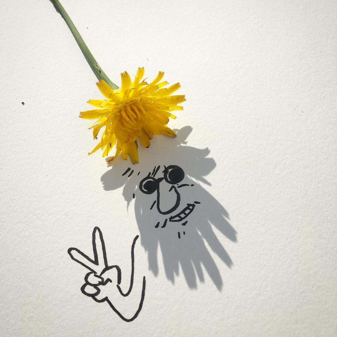 04-Flower-Power-Vincent-Bal-Drawing-with-Shadows-of-Everyday-Things-www-designstack-co