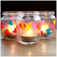 Heart Jars Preschool Craft