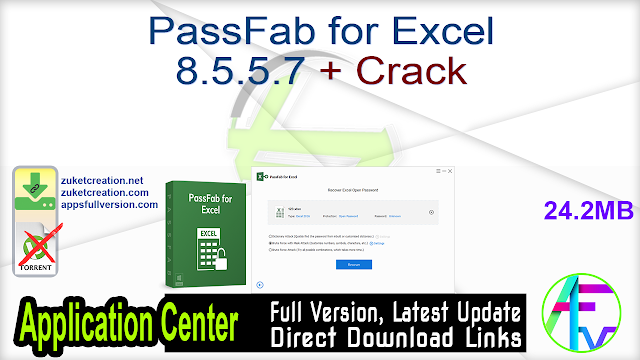 PassFab for Excel 8.5.5.7 + Crack