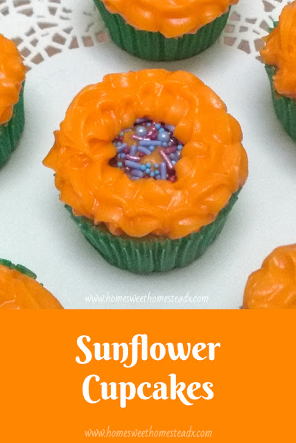 Sunflower Cupcakes - Home Sweet Homestead Cute - #ad Sunflower Cupcakes that are as fun and easy to make, as they are to eat!