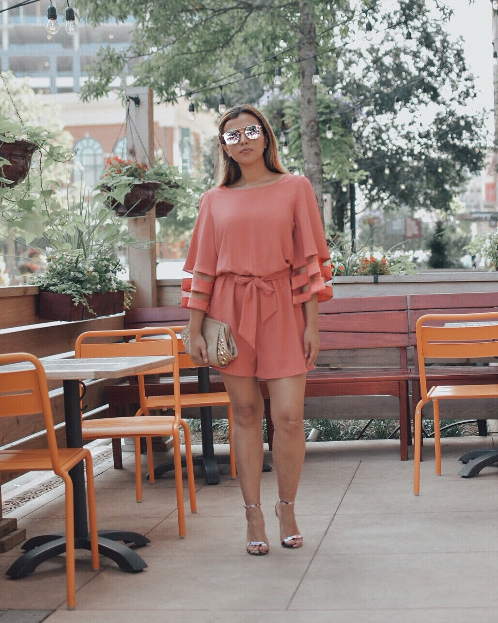 How To Wear Living Coral by Mari Estilo-pantone-lookbook store-look of the day-dcblogger-streetstyle-fashionblog-