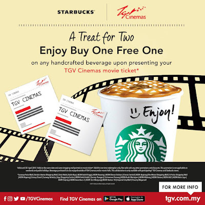 TGV Cinema Movie Ticket Starbucks Buy One Free One Promo