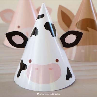 chapeuzinho festa fazendinha animais