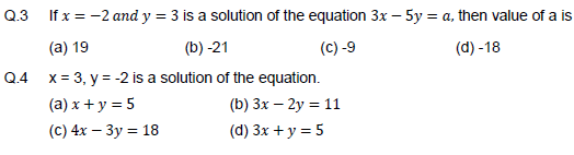 Linear equations in two variable