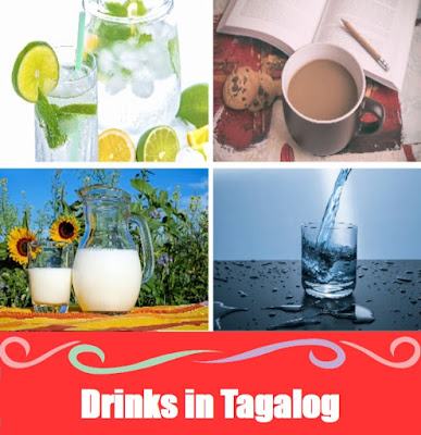 Drinks Word List in Tagalog