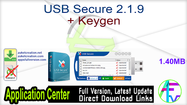 USB Secure 2.1.9 + Keygen