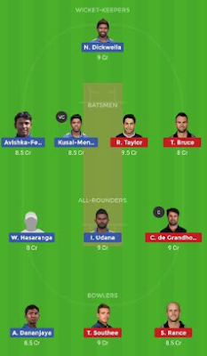 SL vs NZ dream 11 team | NZ vs SL