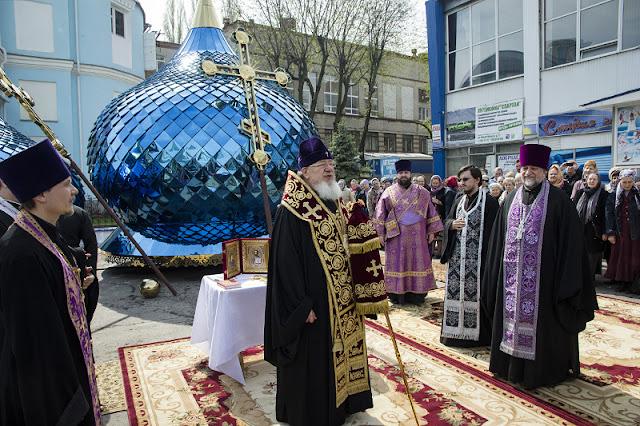 Освящение куполов и крестов Храма во имя пророка Самуила