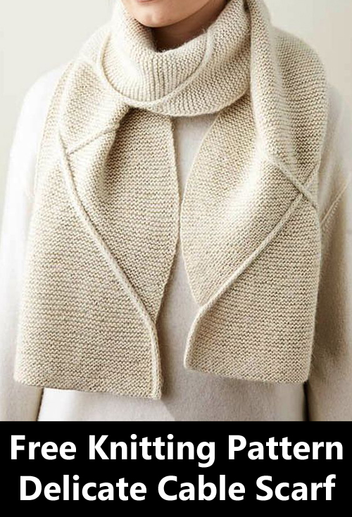 Delicate Cable Scarf - Free Kitting Pattern