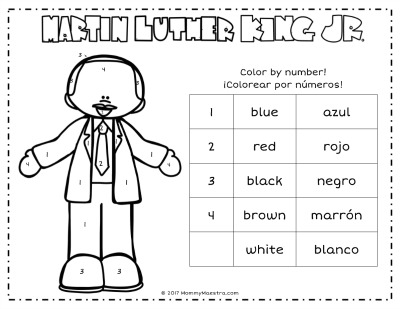 This Year I Have A Simple Color By Number Activity For Introducing Martin Luther King Jr To Younger Children In Preschool And Lower Elementary