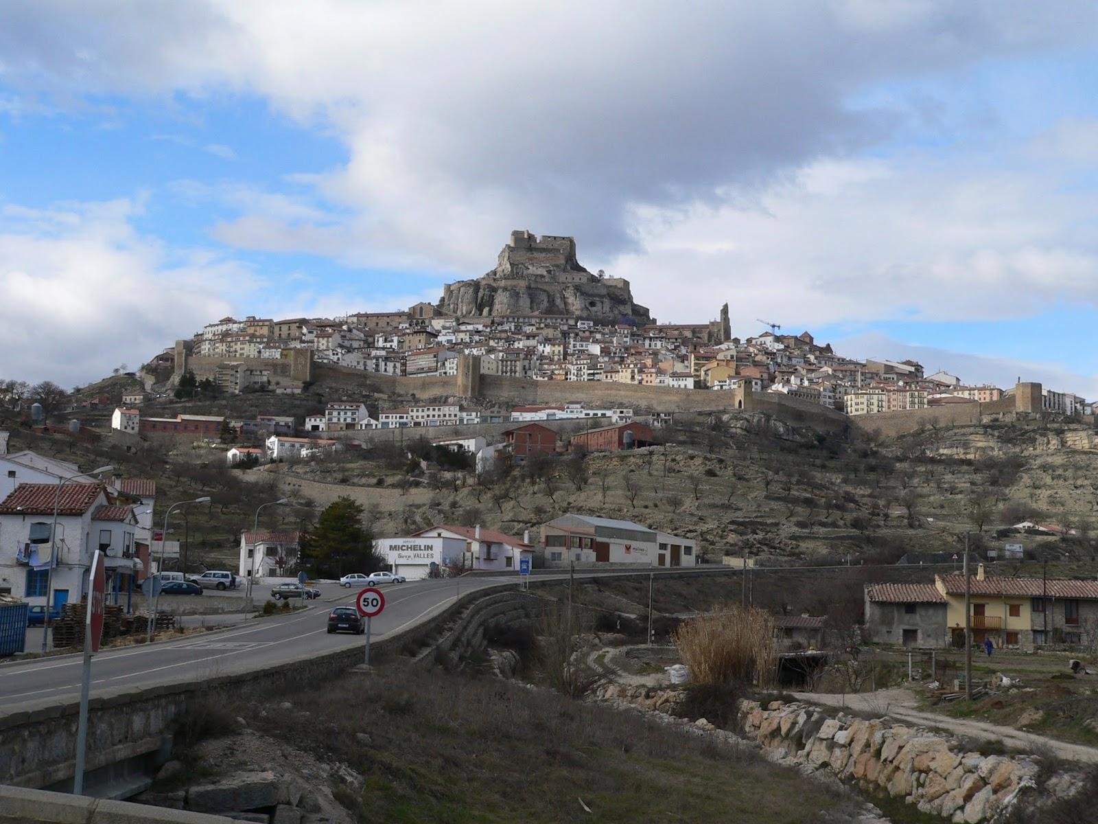 View of Morella in Castellón, Spain