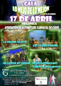 Los primeros premios del Carnaval de Cádiz regresan al Falla este sábado