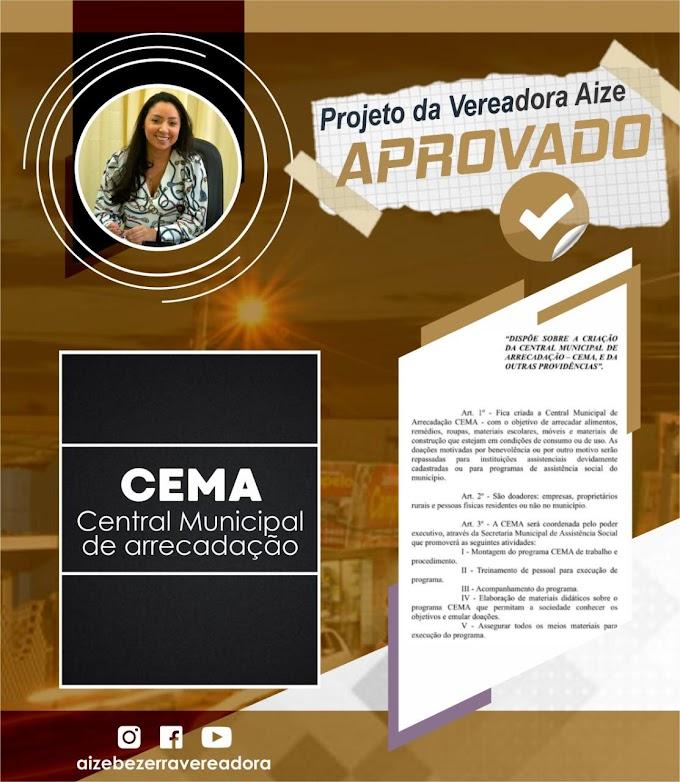 Projeto da vereadora Aize que cria CEMA é APROVADO pela câmara.