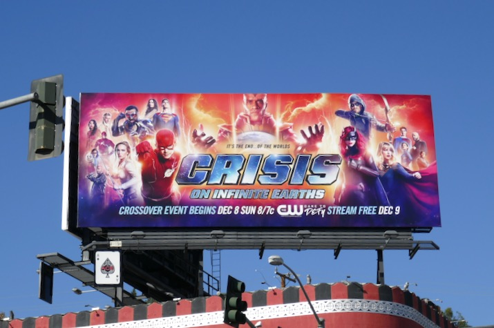 Crisis on Infinite Earths Arrowverse billboard