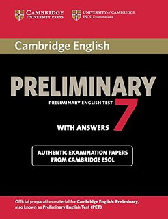Cambridge English Preliminary 7 with answers