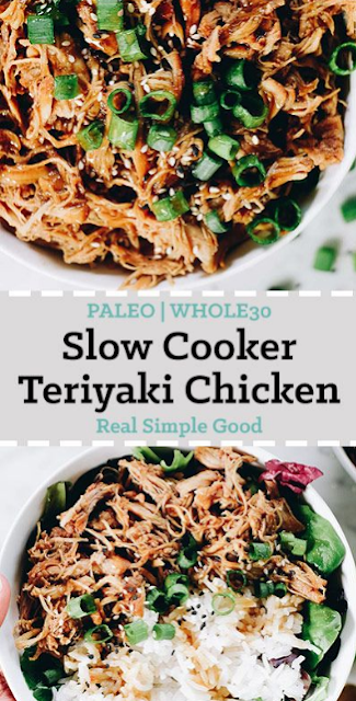 Slow Cooker Teriyaki Chicken (Paleo + Whole30)