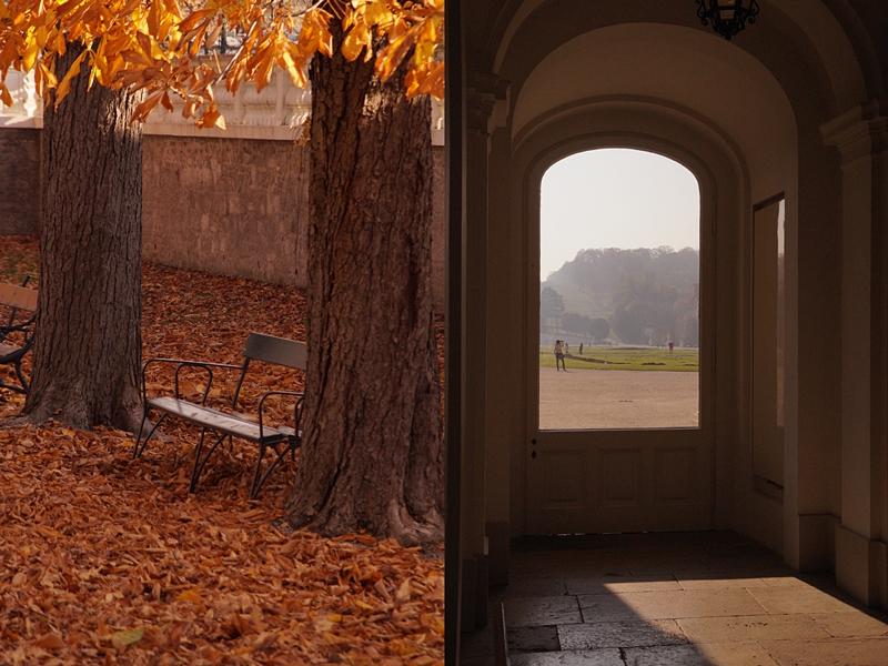 Schloss und Park Schönbrunn, Wien im Herbst