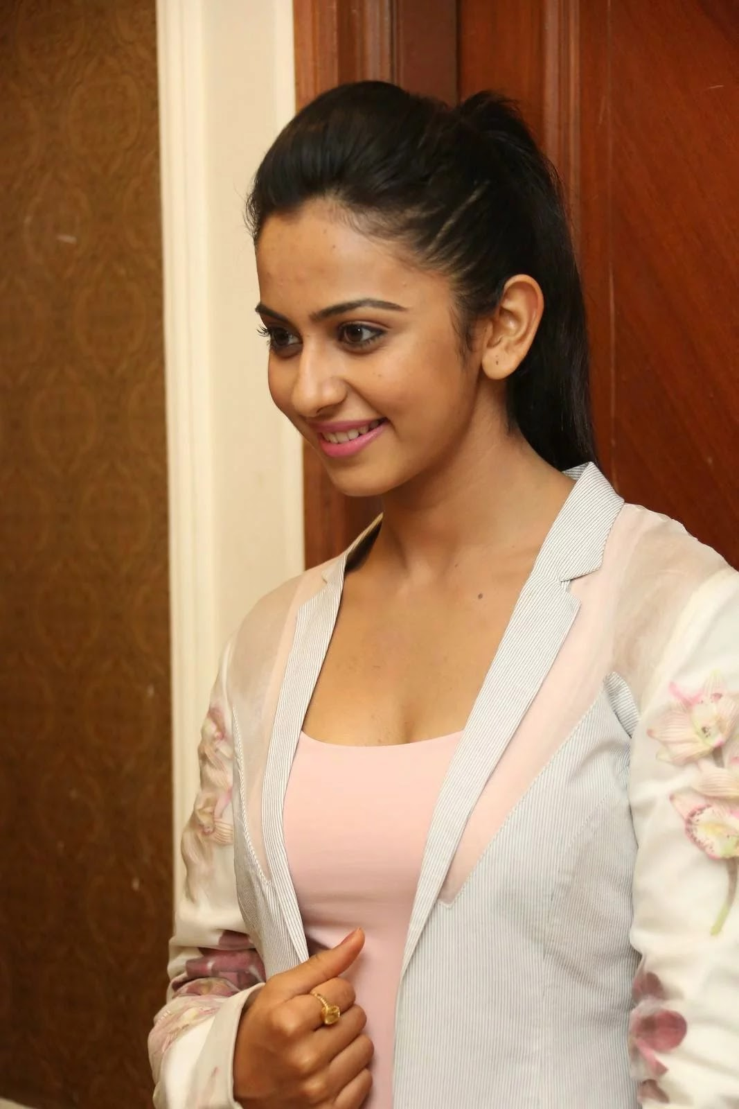 "Actress Rakul Preet Singh PhotoS IN Jeans at Rough Telugu Movie Audio Success Meet CelebsNext 8 - Tollywood Hot Star Rakul Dazzling Stills from ""Rough"" Movie Press Meet"