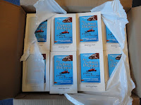 Photo of a box containing 48 copies of The Curious Incident of the Dog in the Night-time - World Book Night