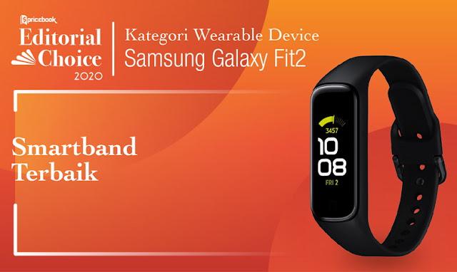 Di Pricebook Editorial Choice 2020, Samsung Galaxy Fit 2 Jadi Smartband Terbaik lho berkat fitur-fitur di dalamnya