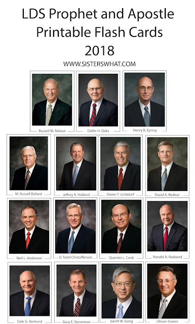 2019 General Conference Prophets Apostles Printable