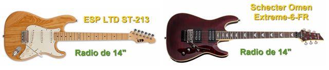 Guitarras Eléctricas con Radio de 14 Pulgadas de Curvatura del Diapasón