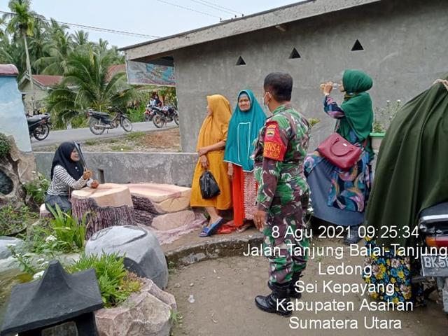 Himbau Tetap Jaga Kebersihan, Personel Jajaran Kodim 0208/Asahan Laksanakan Komsos Bersama Warga Binaan